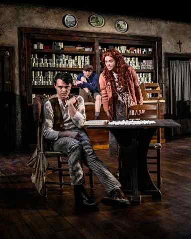 Dylan Cotter as Billy, Connor Griffin as Bartley and Rachel Franke as Helen. Photo by Ed Flores, courtesy of Arizona Repertory Theatre.