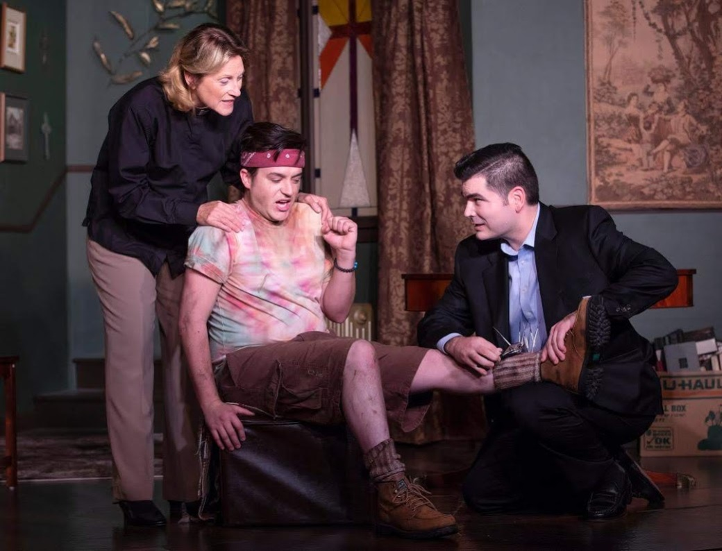 Cynthia Jeffery as Hannah, John Noble as Thomas, and Steve Wood as Brandt. Photo by Tim Fuller, courtesy of The Invisible Theatre.