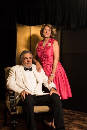 Roger Owen as Big Daddy Pollitt and Cynthia Jeffrey as Big Mama. Photo by Sara Jackson, courtesy of Roadrunner Theatre.