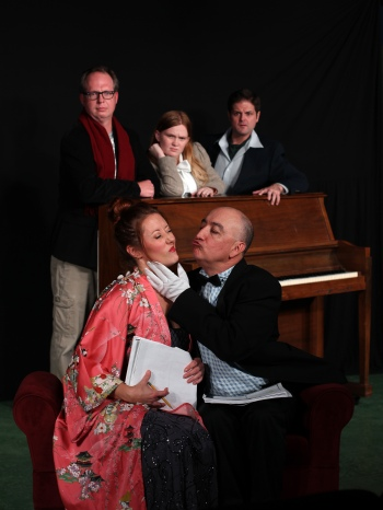 The cast of Stage Kiss. Photo by Ryan Fagan, courtesy of Live Theatre Workshop.