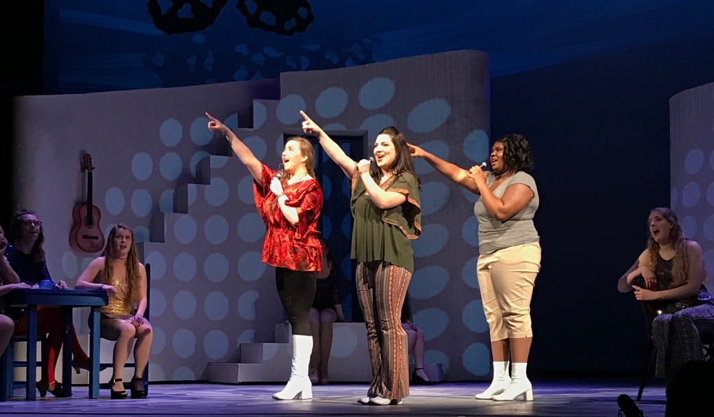 Gianbari Deebom as Rosie, Thea Lancaster as Donna, and as Shann Oliver Tanya. Photo courtesy of Pima Community College Center for the Arts.