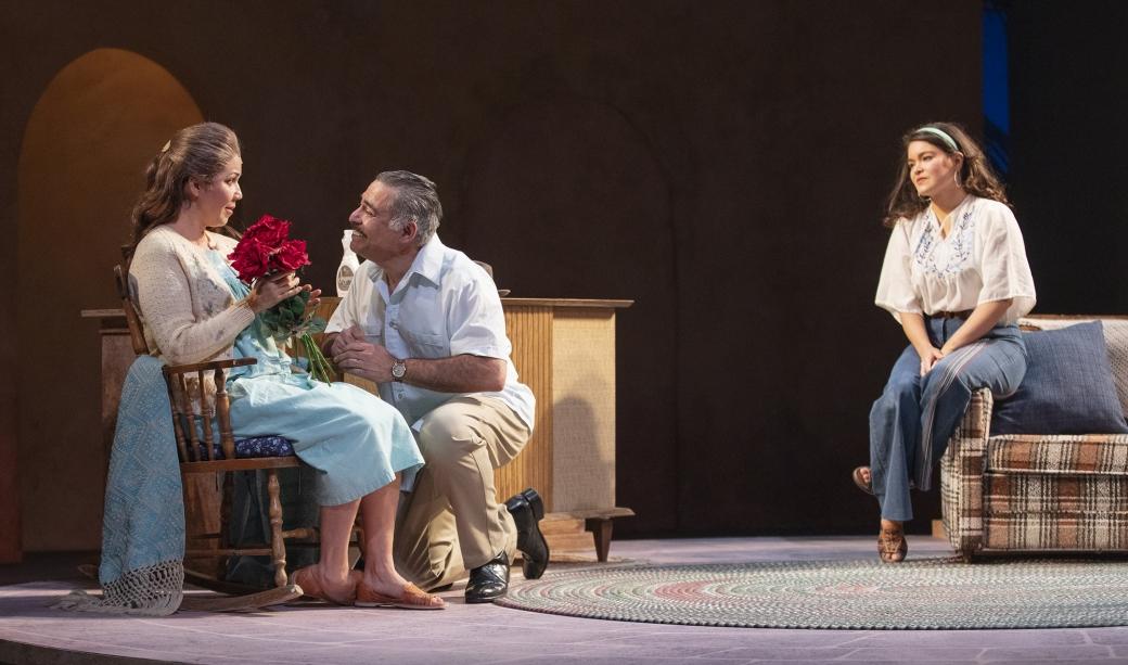 Diana Burbano as Amalia, Danny Bolero as Federico, and Christen Celaya as Lucha. Photo by Tim Fuller, courtesy of Arizona Theatre Company.