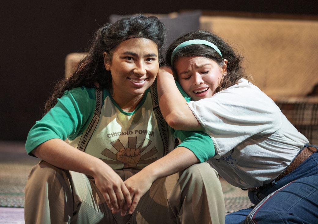Satya Jnani Chavez as Boli and Christen Celaya as Lucha. Photo by Tim Fuller, courtesy of Arizona Theatre Company.