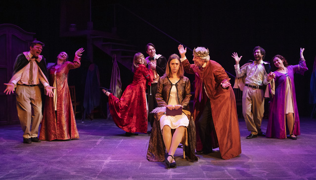 Holly Griffith, Joe McGrath and the cast of The Secret in the Wings. Photo by Tim Fuller, courtesy of The Rogue Theatre.