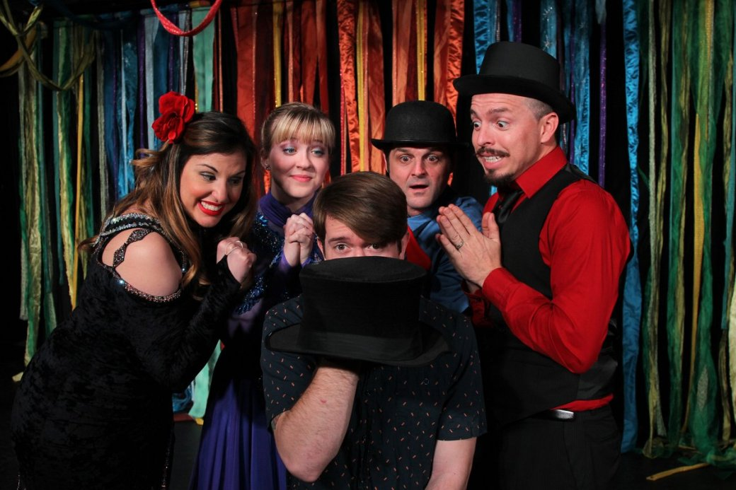 The cast of Quikus Circus & the Missing Ringmaster. Photo courtesy of Live Theatre Workshop.