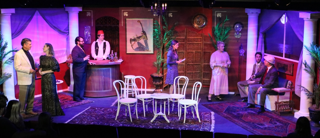 The cast of Murder on the Nile. Photo courtesy of Arizona Rose Theatre.