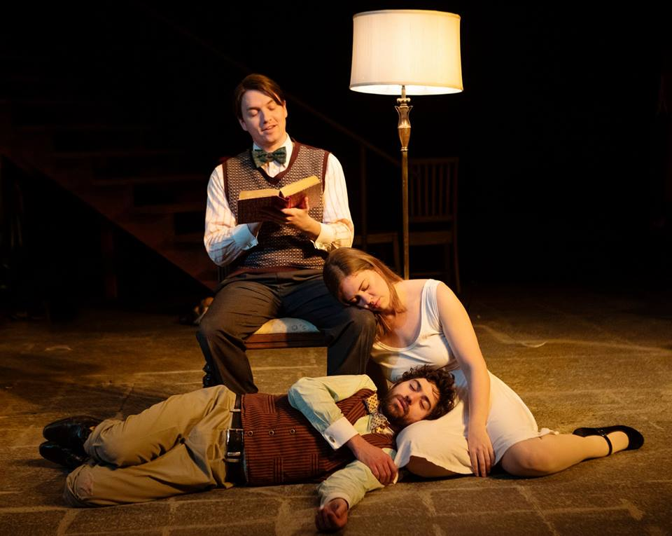 Aaron Shand, Holly Griffith and Hunter Hnat in the 2018-2019 season production of The Secret in the Wings. Photo by Tim Fuller, courtesy of the Rogue Theatre.