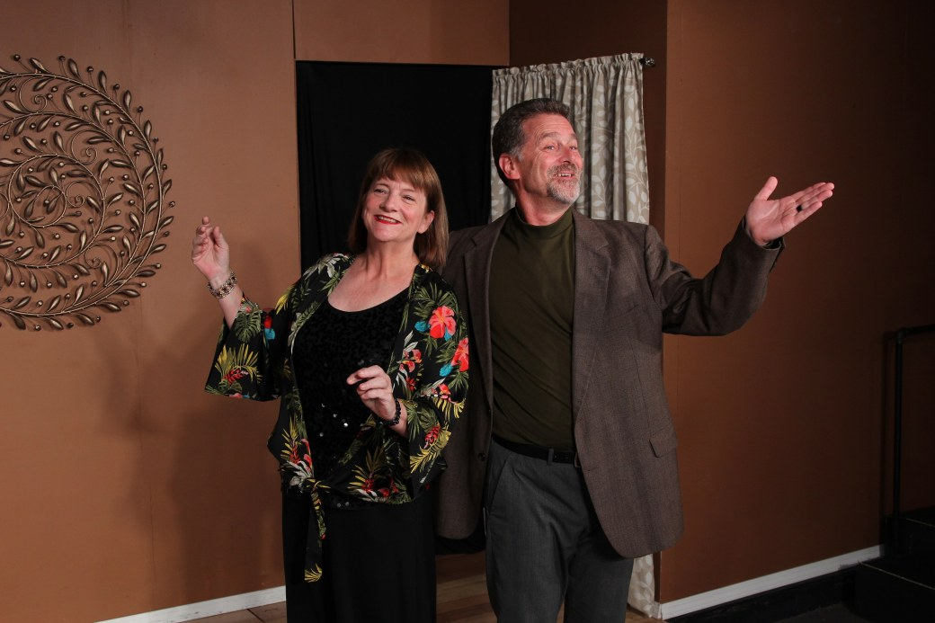 Lesley Abrams as Marnie and Steve McKee as Jerry. Photo by Ryan Fagan, courtesy of Live Theatre Workshop.
