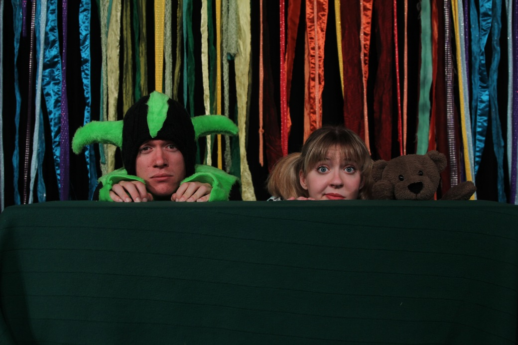 William Seidel as Squirble and Taylor Thomas as Tabitha Turnpike. Photo by Ryan Fagan, courtesy of Live Theatre Workshop.