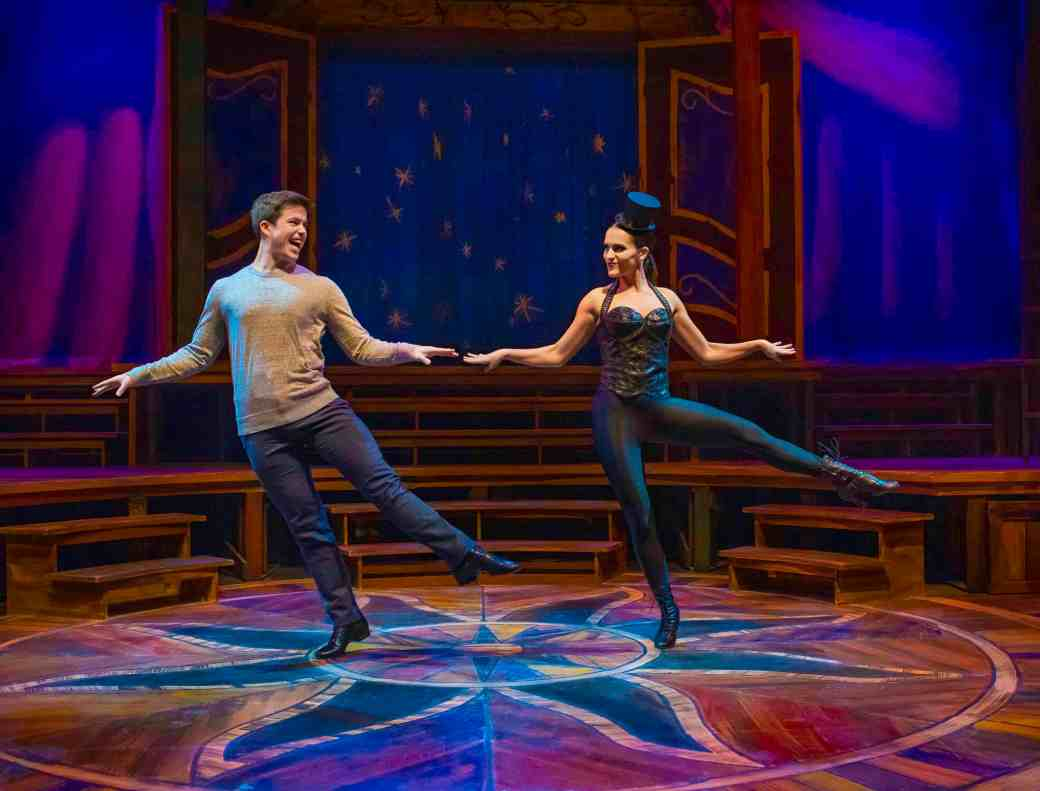 Tony Moreno as and Paige Mills as The Leading Player. Photo by Ed Flores, courtesy of Arizona Repertory Theatre.