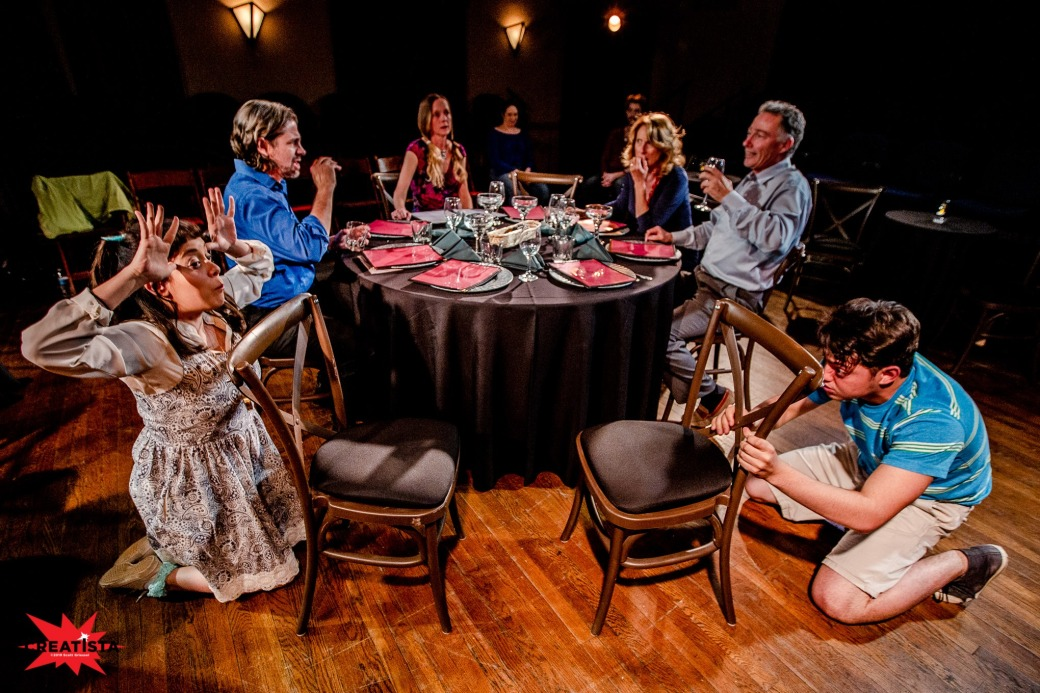 The cast of The Big Meal. Photo by Creatista Photography, courtesy of Winding Road Theater.
