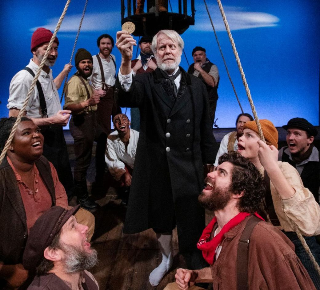 The cast of Moby Dick. Photo by Tim Fuller, courtesy of The Rogue Theatre.