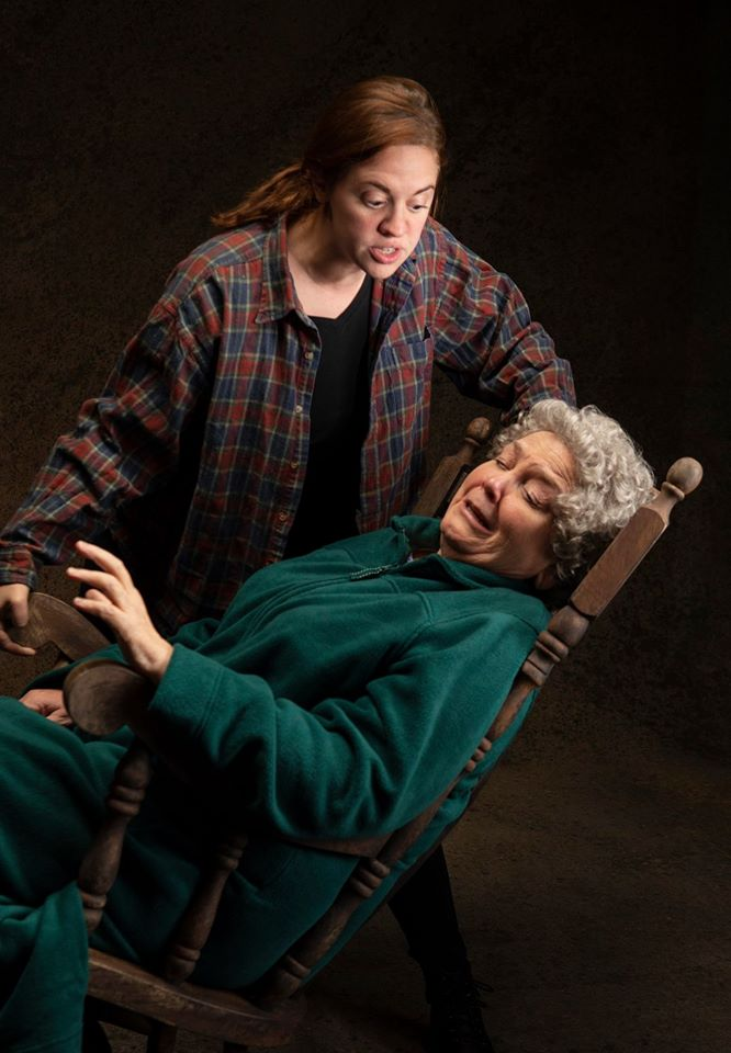 Holly Griffith as Maureen and Cynthia Meier as Mag. Photo by Tim Fuller, courtesy of the Rogue Theatre.